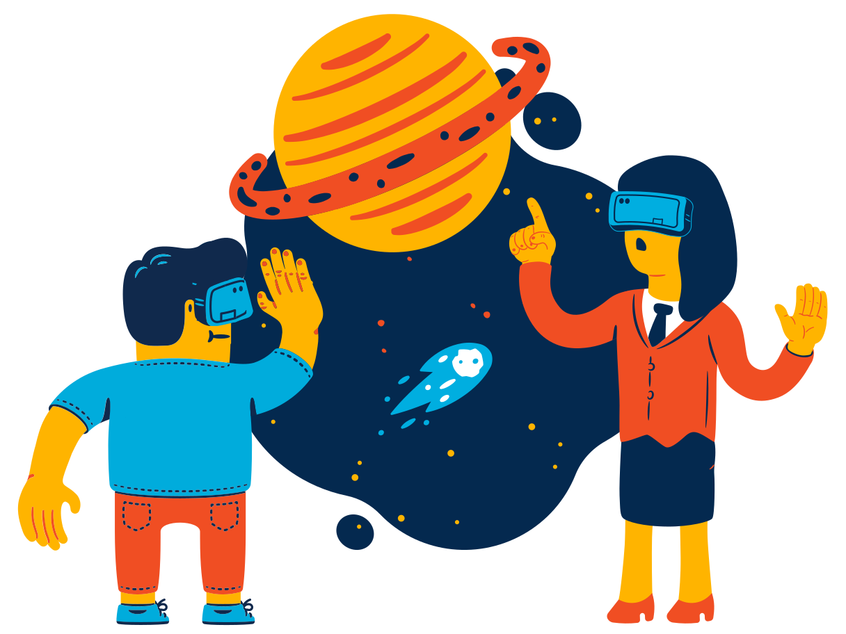Space virtual reality Clipart illustration in PNG, SVG