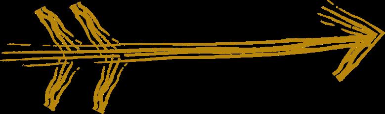 tk gold arrow Clipart illustration in PNG, SVG
