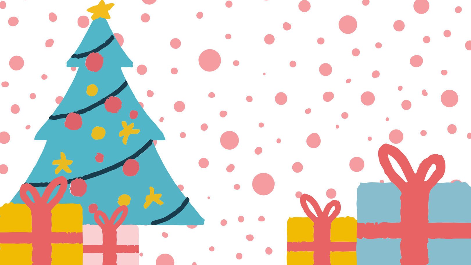 Christmas tree and gifts Clipart illustration in PNG, SVG