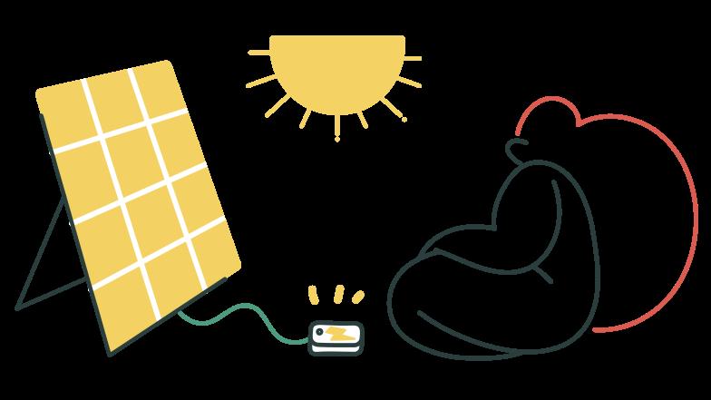 Solar energy Clipart illustration in PNG, SVG