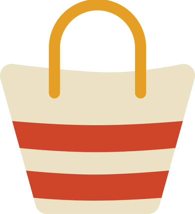 beach bag Clipart illustration in PNG, SVG