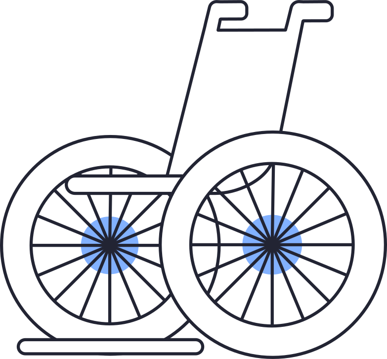 help and care  wheelchair Clipart illustration in PNG, SVG