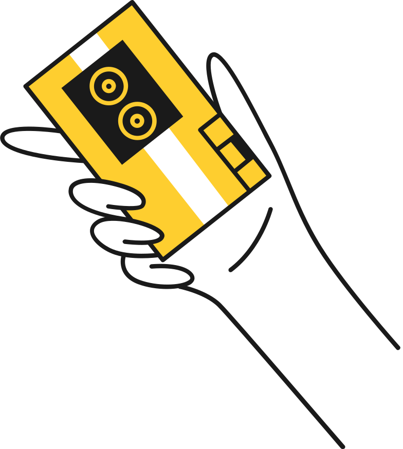 hand with recorder Clipart illustration in PNG, SVG