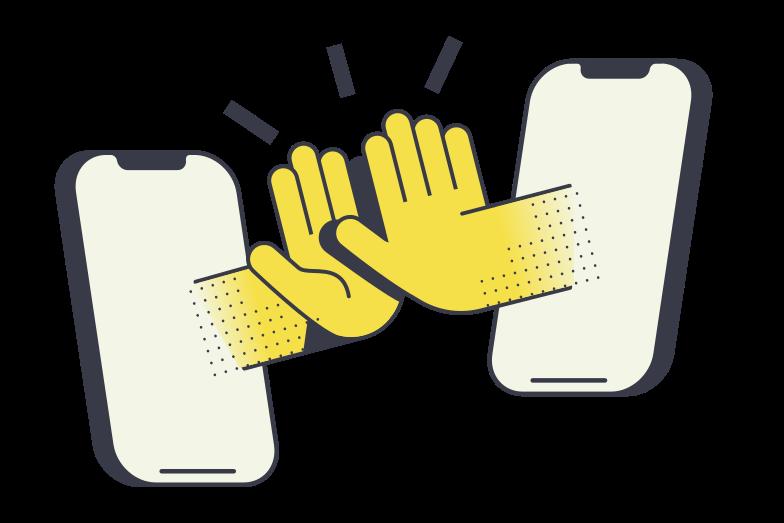 Illustration clipart la communication aux formats PNG, SVG