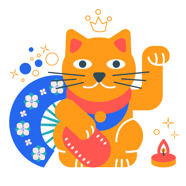Happiness cat Clipart illustration in PNG, SVG