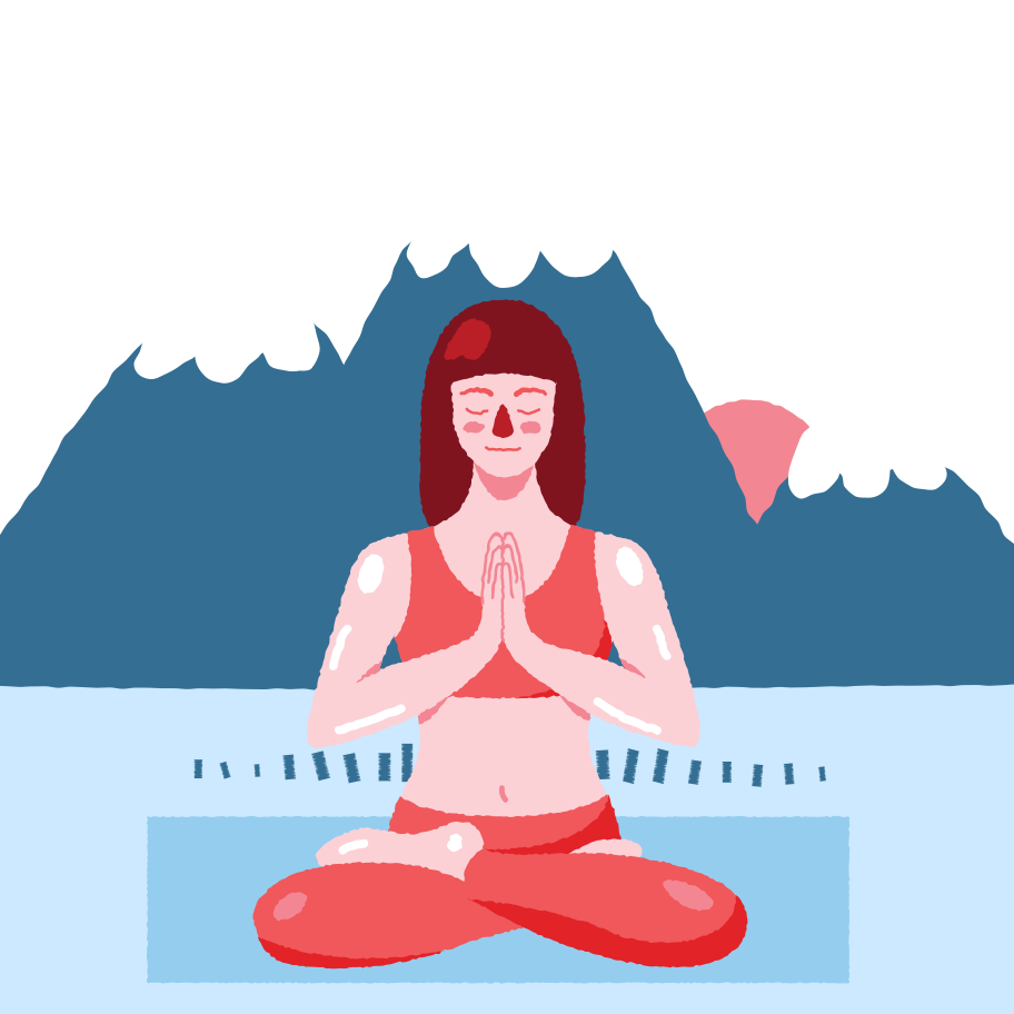 Outdoor yoga Clipart illustration in PNG, SVG