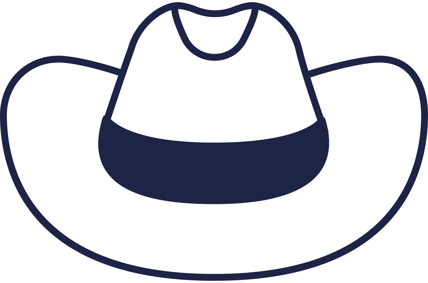 sign in  cowboy hat line Clipart illustration in PNG, SVG
