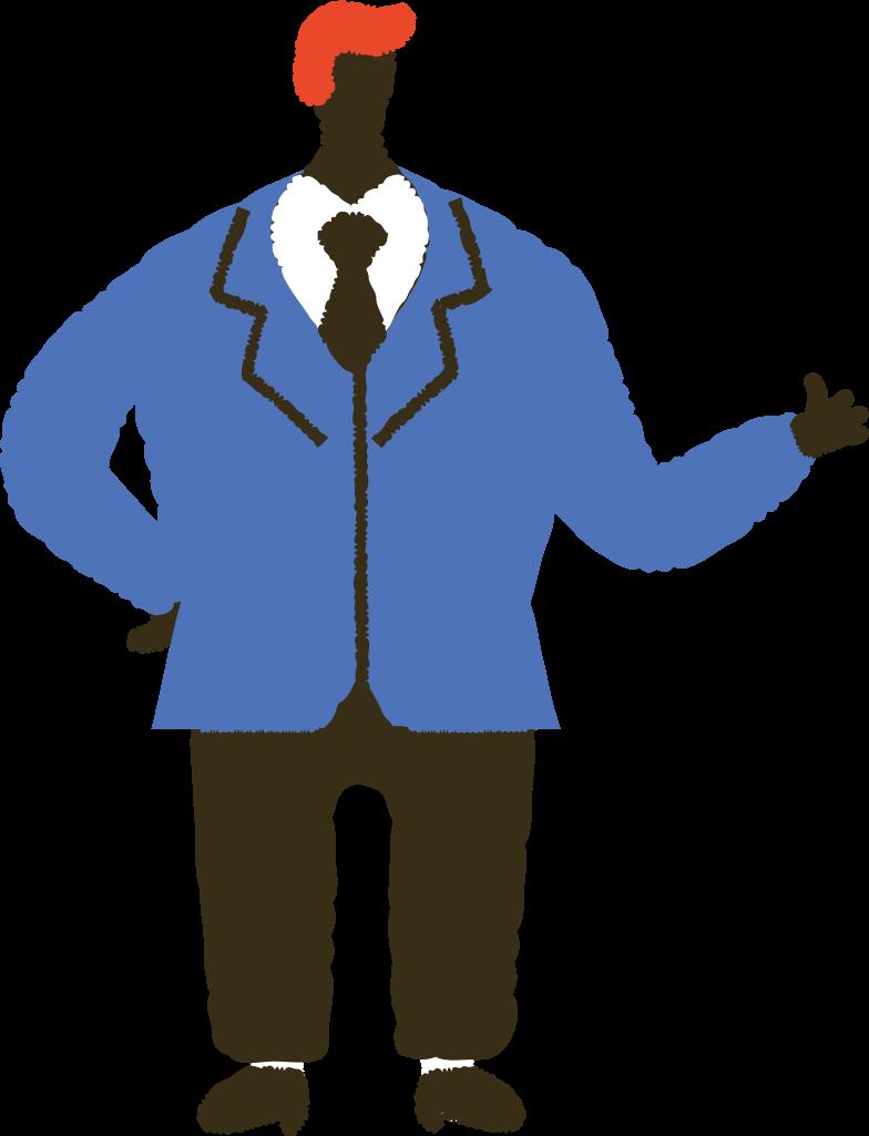 Клипарт Мужчина в костюме в PNG и SVG