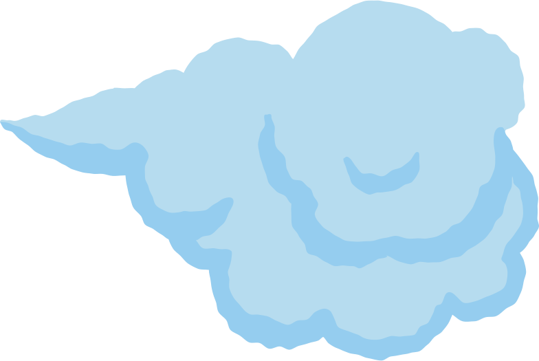 chubby cloud Clipart illustration in PNG, SVG