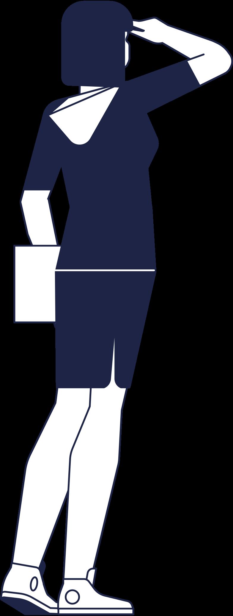 Иллюстрация женщина смотрит на улицу в стиле  в PNG и SVG | Icons8 Иллюстрации