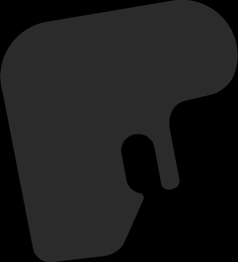 short hair 1 back Clipart illustration in PNG, SVG