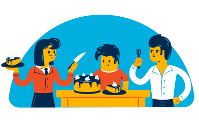 style ケーキを食べる images in PNG and SVG | Icons8 Illustrations