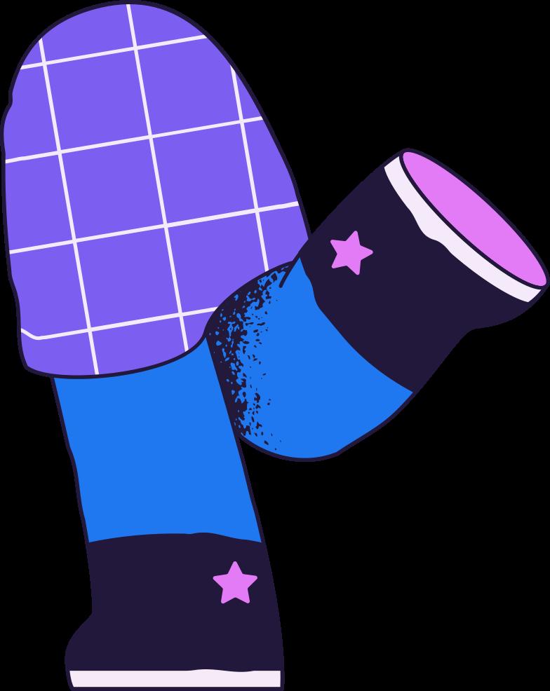 Ilustración de clipart de Piernas de niño en PNG, SVG