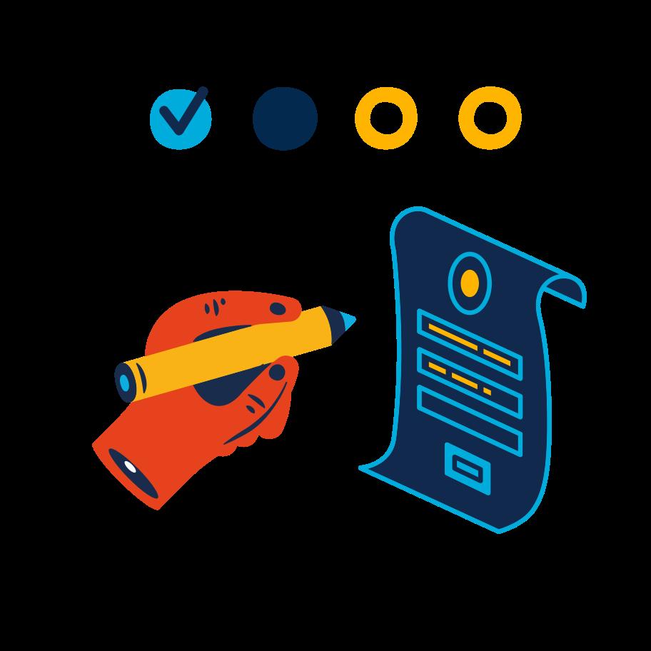 Fill form Clipart illustration in PNG, SVG