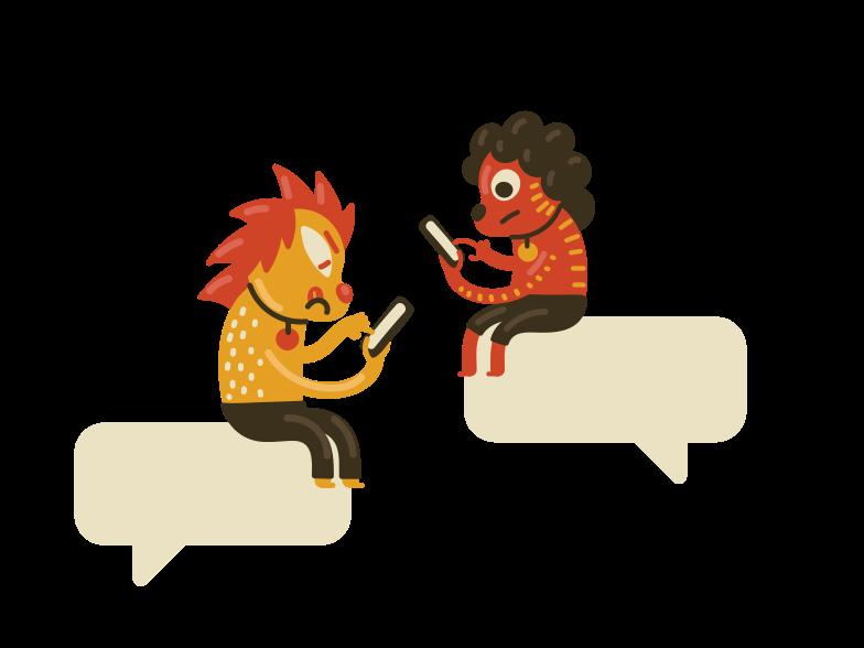 Online conversation  Clipart illustration in PNG, SVG
