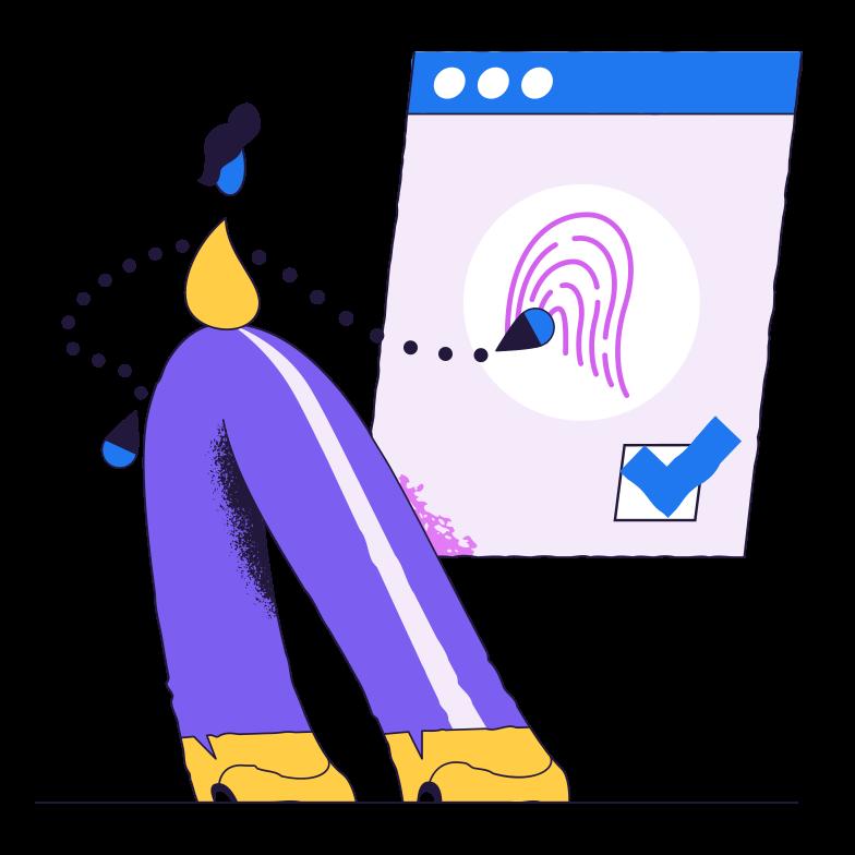 Fingerprint verification Clipart illustration in PNG, SVG
