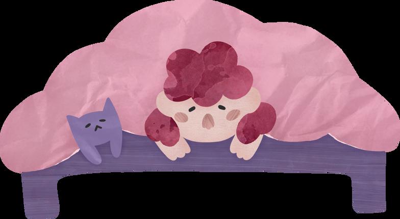 Illustration clipart girl cat aux formats PNG, SVG