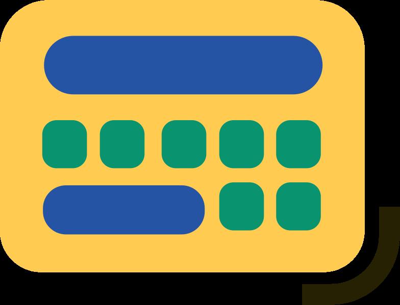 calculator Clipart illustration in PNG, SVG