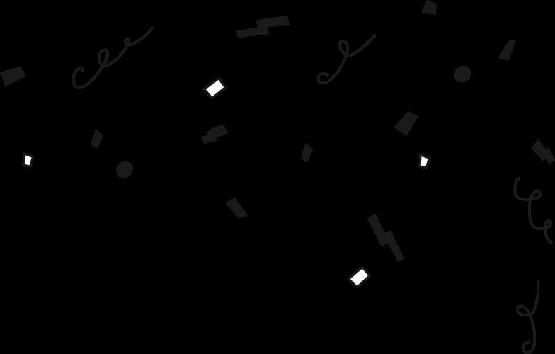 success decoration confetti Clipart illustration in PNG, SVG