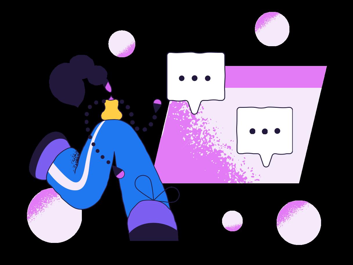 Social media chatting Clipart illustration in PNG, SVG