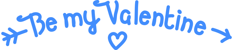 be my valentine Clipart illustration in PNG, SVG