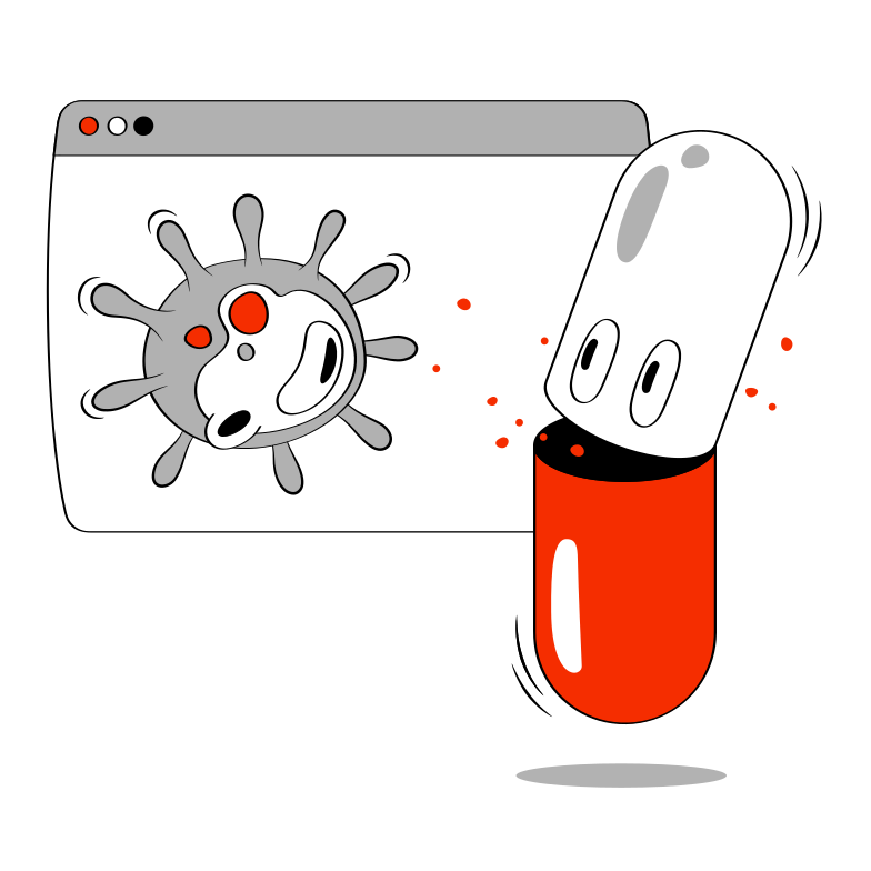 The virus Clipart illustration in PNG, SVG