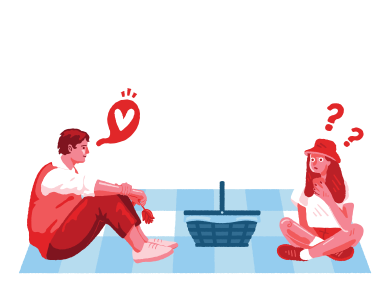 style Surprise on a picnic images in PNG and SVG | Icons8 Illustrations