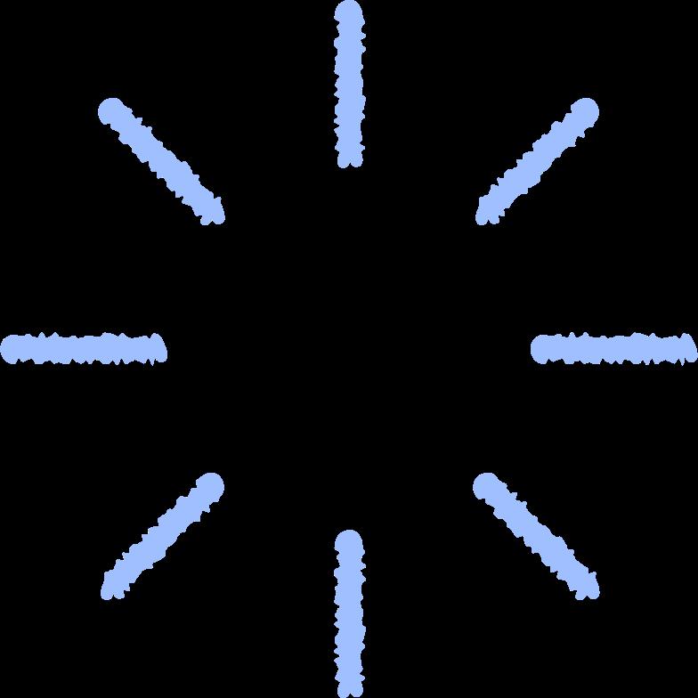 blue spinner Clipart illustration in PNG, SVG