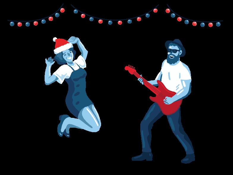 Ilustración de clipart de Fiesta de año nuevo en PNG, SVG