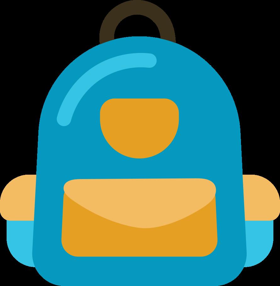 backpack front Clipart illustration in PNG, SVG