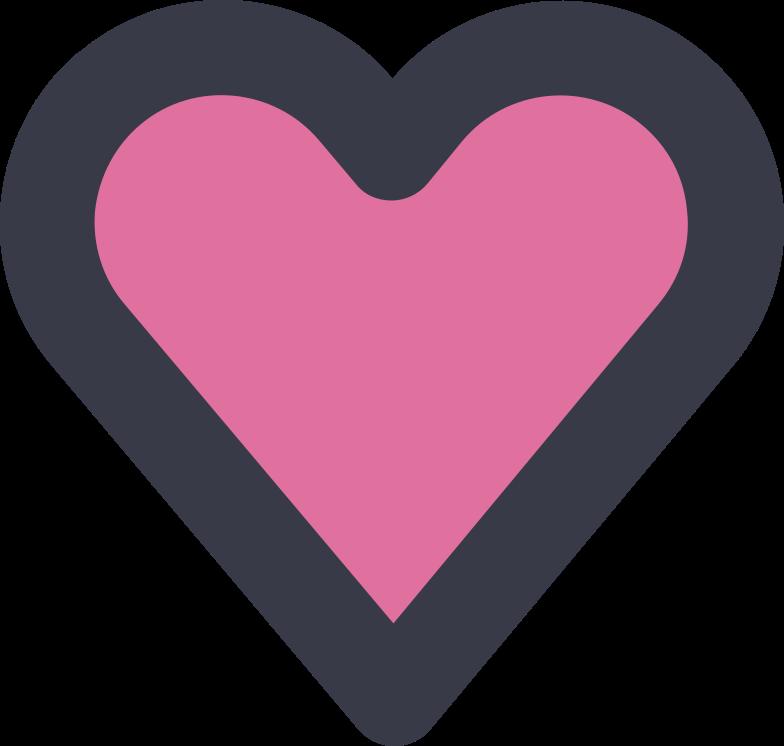 Ilustração de clipart de coração em PNG e SVG