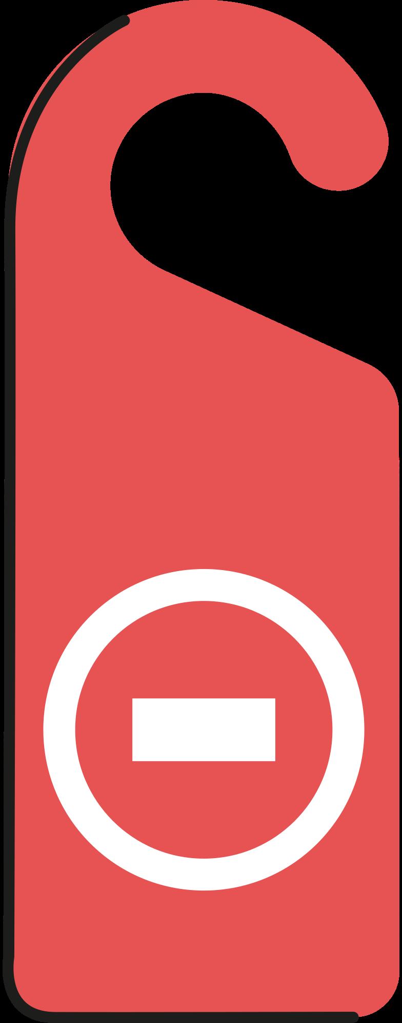 door-hanger Clipart illustration in PNG, SVG