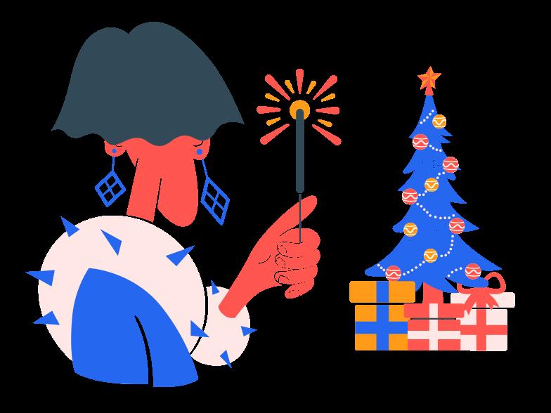 Christmas sparkles Clipart illustration in PNG, SVG