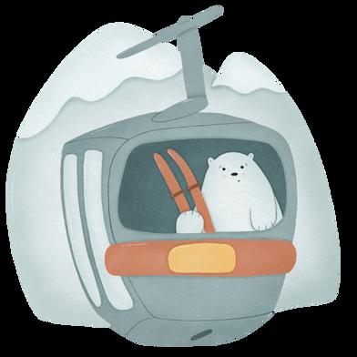 Imágenes de Oso con esquí estilo  en PNG y SVG | Ilustraciones Icons8