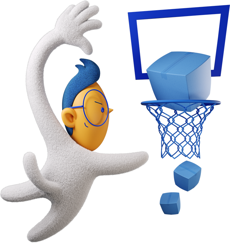 boy bascetball boxes Clipart illustration in PNG, SVG
