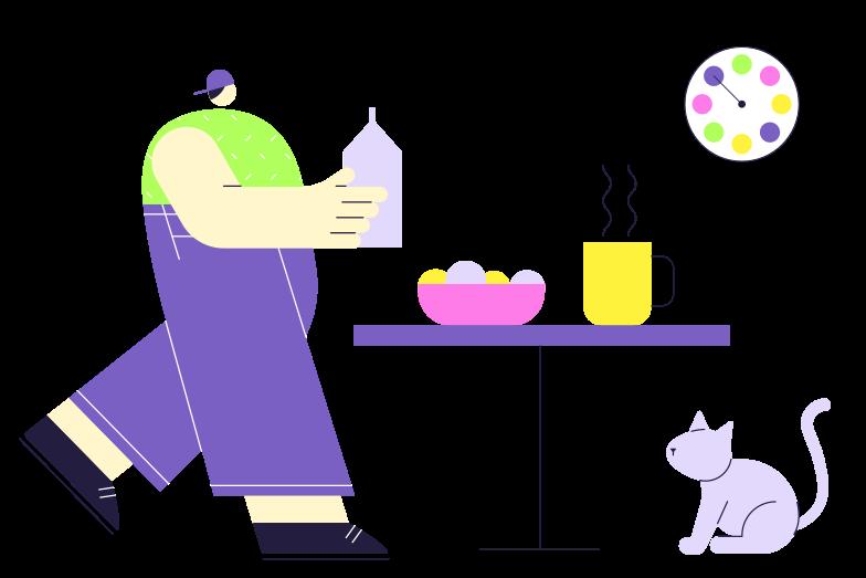 PNGとSVGの  スタイルの 友達と朝食 ベクターイメージ | Icons8 イラスト