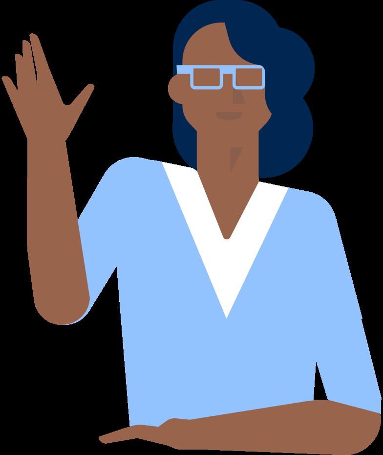 receptionist Clipart illustration in PNG, SVG