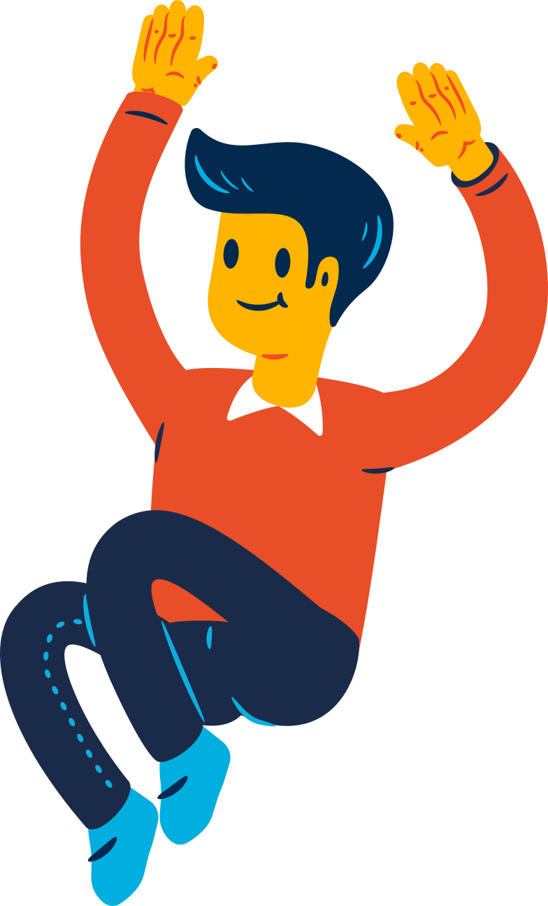jumping guy Clipart illustration in PNG, SVG