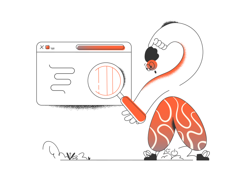 Web search  Clipart illustration in PNG, SVG