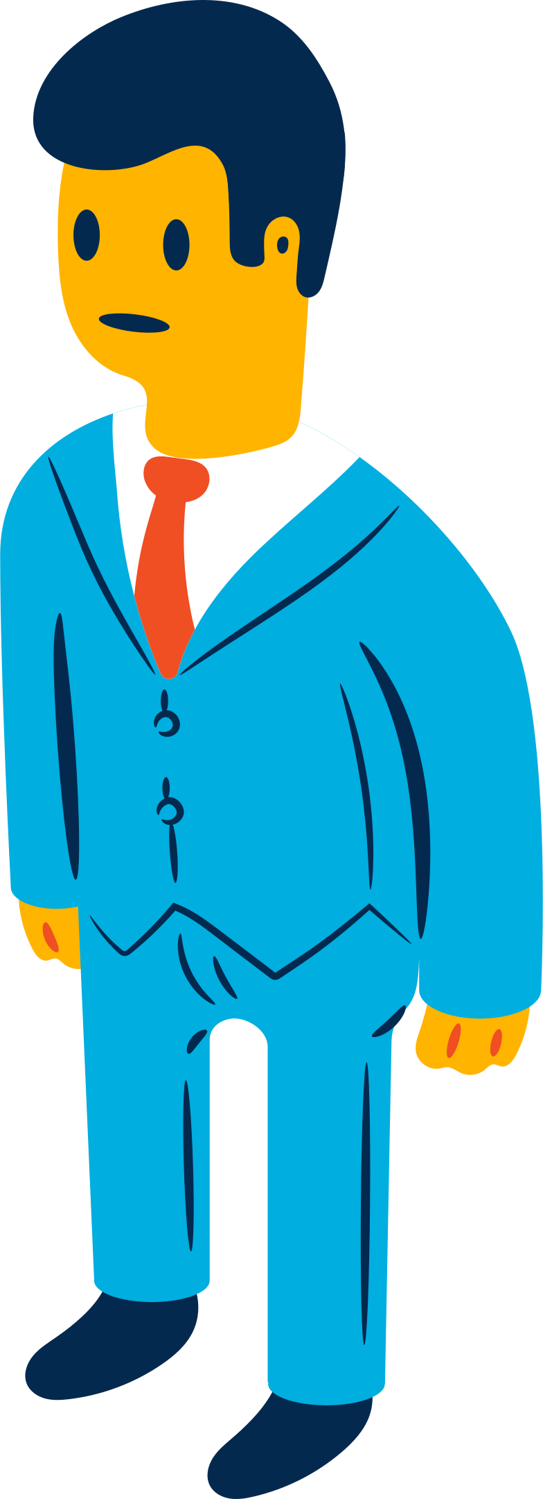 Ilustração de clipart de homem de negocios em PNG e SVG