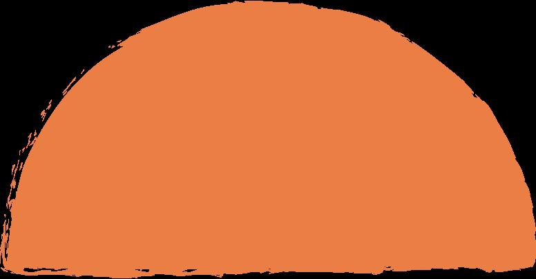 semicircle-orange Clipart illustration in PNG, SVG