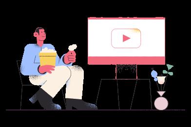 Иллюстрация Смотреть фильм в стиле  в PNG и SVG | Icons8 Иллюстрации