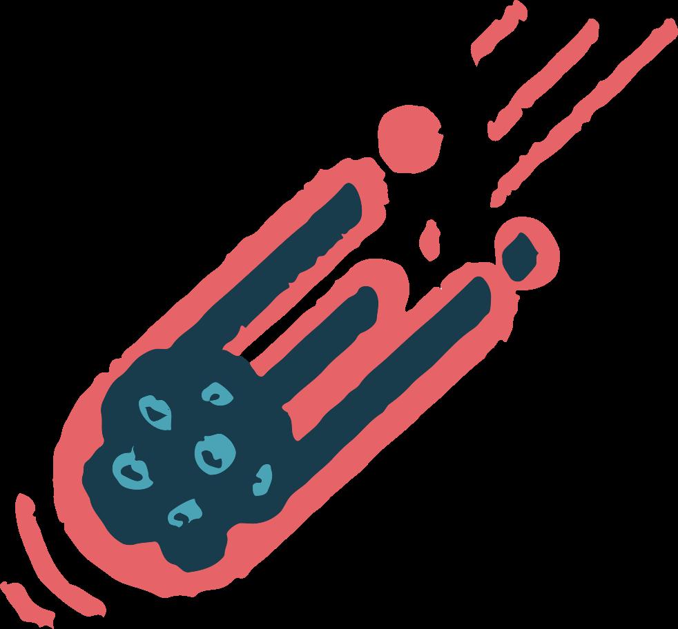 meteor Clipart illustration in PNG, SVG