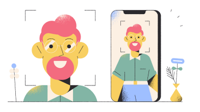 style Face Recognition images in PNG and SVG | Icons8 Illustrations