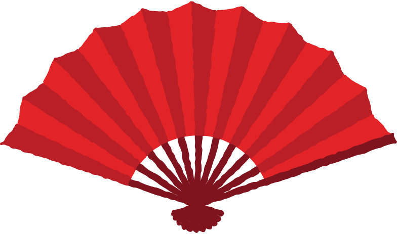 hand fan Clipart illustration in PNG, SVG