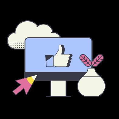 Иллюстрация Палец вверх в стиле  в PNG и SVG | Icons8 Иллюстрации