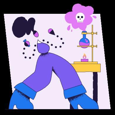 Иллюстрация Неудачный эксперимент в стиле  в PNG и SVG | Icons8 Иллюстрации