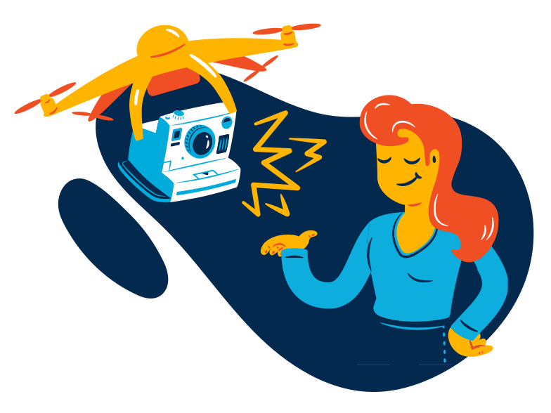 Drone photographer Clipart illustration in PNG, SVG
