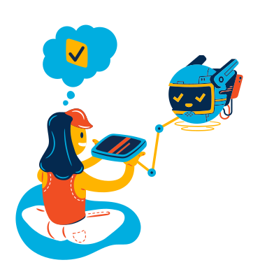 style Programming robot interface images in PNG and SVG | Icons8 Illustrations