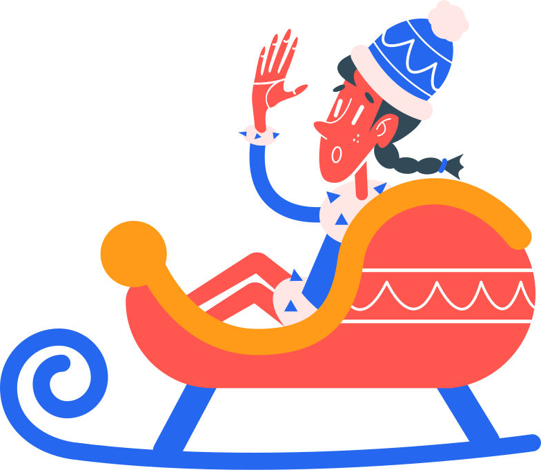 sleigh Clipart illustration in PNG, SVG